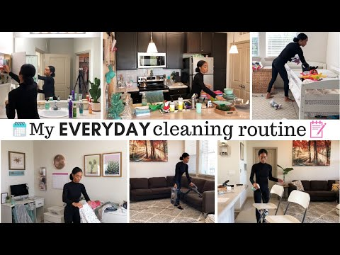 STAY AT HOME MOM DAILY CLEANING ROUTINE // WHAT I CLEAN EVERYDAY // Jessica Tull cleaning