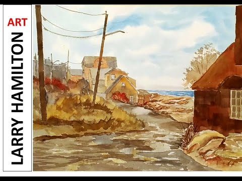 "Painting with Larry Hamilton LIVE - Watercolor February 22, 2017 ""Rockport Coast"""