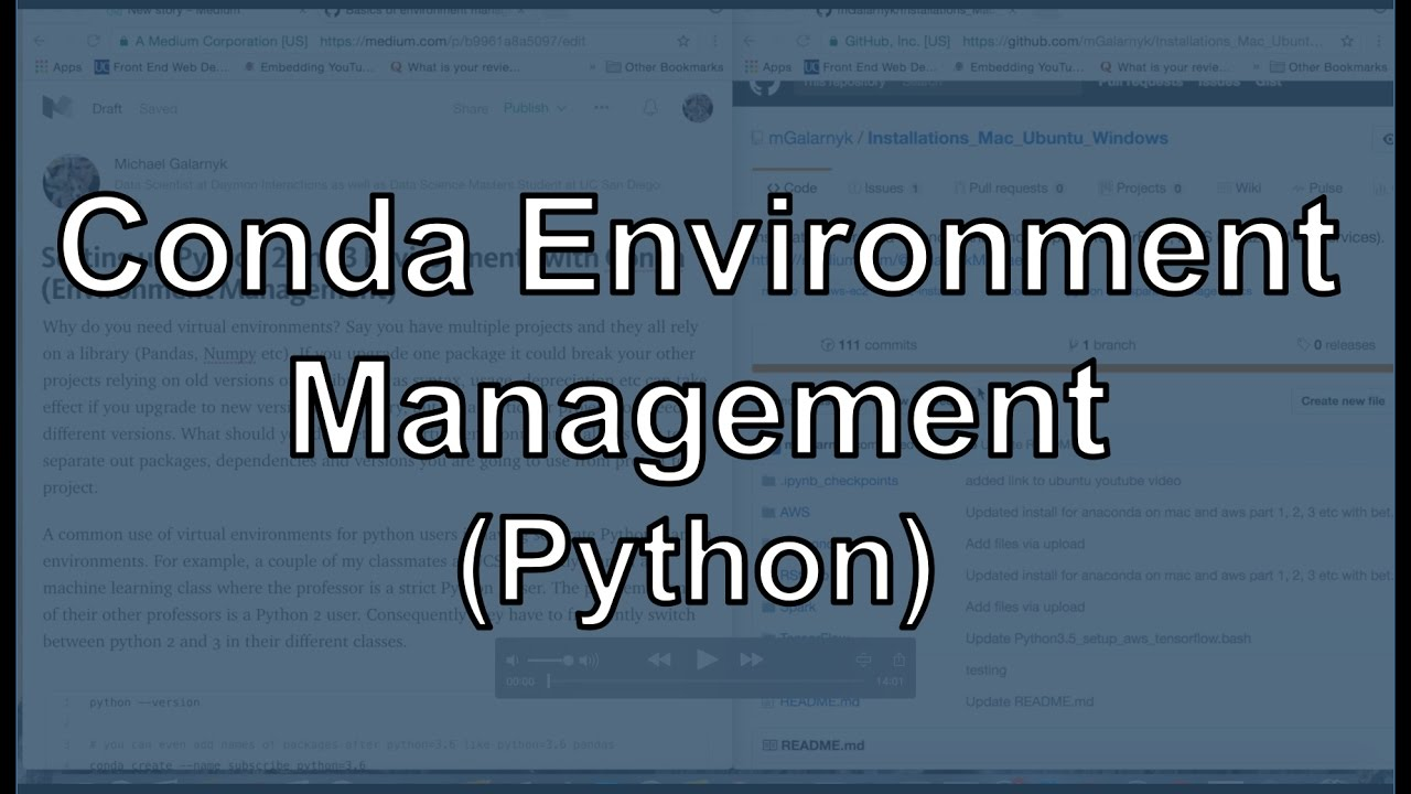 Python Environment Management with Conda (Python 2 + 3, Using