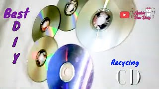 CDs and DVDs Recycling  |  How To Recycle Your Old CDs Into Useful Stuff  |  Best out of Waste 😍