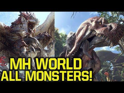 Monster Hunter World - ALL CONFIRMED MONSTERS (MH World Gameplay - Monster Hunter 5) thumbnail