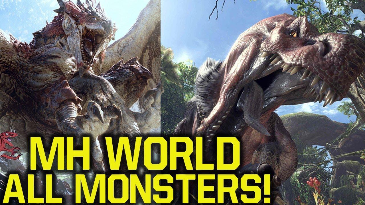 Monster hunter world all confirmed monsters mh world for Decoration list monster hunter world