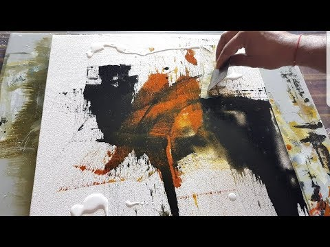 Abstract painting / EASY abstract painting Demonstration in acrylics