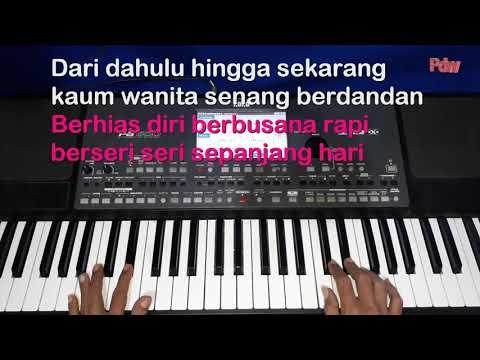 karaoke-qasidah+lirik-wanita-dan-kecantikan