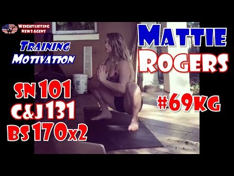 Mattie Rogers (USA, 69KG) | Olympic Weightlifting Training | Motivation