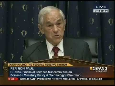 Ron Paul Opening Statement - Federal Reserve Subcommittee Hearing - May 8, 2012