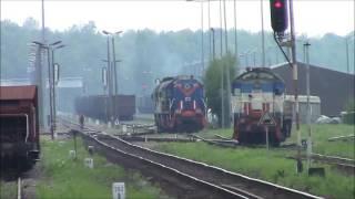 SM48 i ST44, Tamara i Gagar manewrują po terminalu LHS w Sławkowie