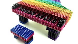 DIY How To Build Rainbow Piano From Magnetic Balls (100% Satisfying)