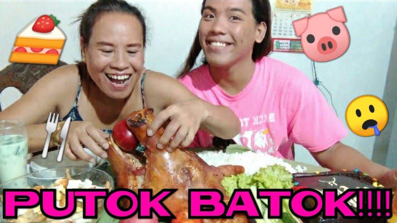 Download MUKBANG   FILIPINO FOOD/ PIG'S HEAD LECHON, LOMI, CAKE, GULAMAN,PIPINO, LETTUCE