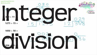 Integer division | Maths GCSE and iGCSE Revision