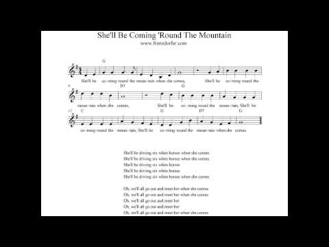 She'll Be Coming Round The Mountain - instrumental