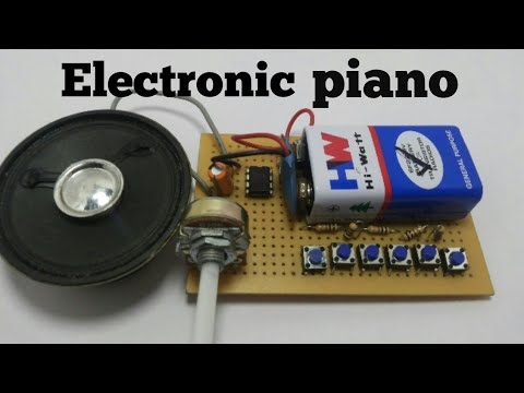 electronic piano using 555 timer simple electronics projects - YouTube