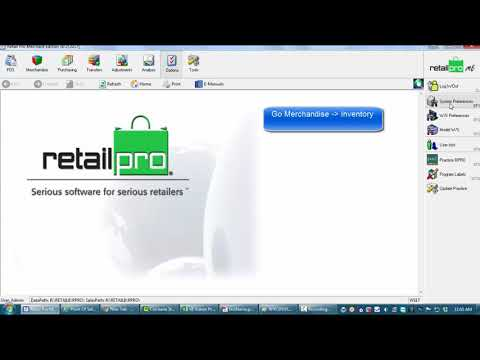 Serial number tracking in Retail Pro v8