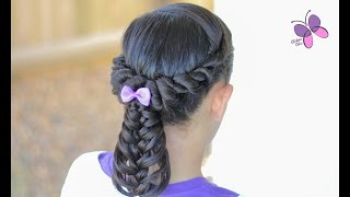 Twisted Ponytail into a Feather Braid | Braided Hairstyles | Hairstyles for Girls | Chikas Chic