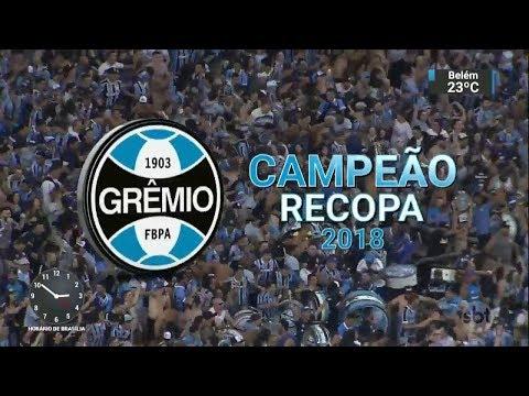 Grêmio bate o Independiente nos pênaltis e é campeão da Recopa | SBT Notícias (22/02/18)