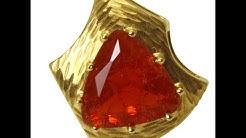 Feueropal Anhänger Gold