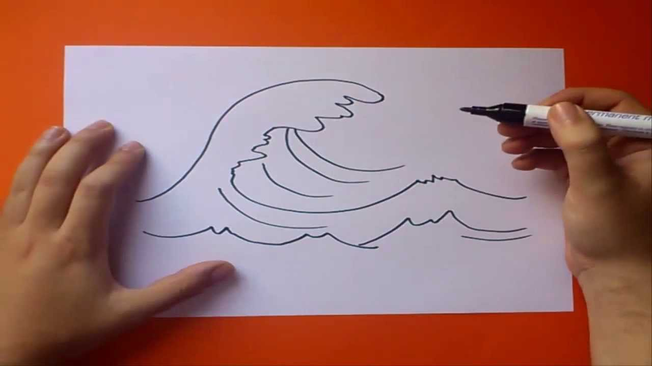 Como dibujar una ola paso a paso  How to draw a wave  YouTube