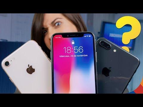 QUÉ IPHONE COMPRAR?? IPhone X Vs IPhone 8 Vs IPhone 8 Plus