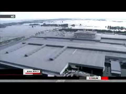 Aerial footage of Thai flooding