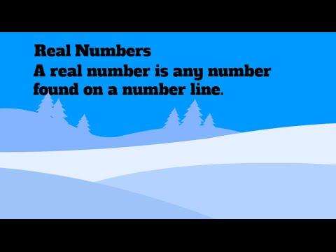 Define Real Number