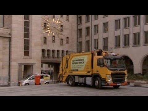 TRANSPORT.TV: Autonome Volvo Trucks vuilniswagen in Brussel