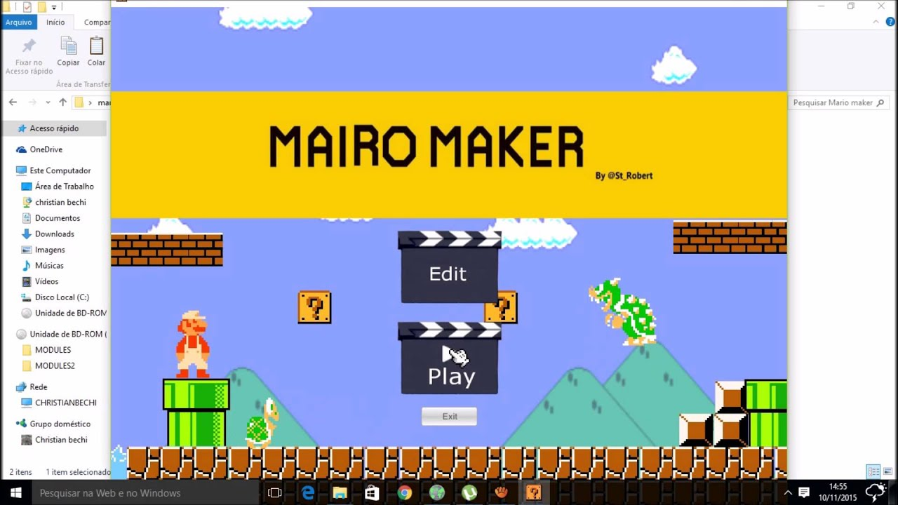 Como baixar e instalr o Super mario maker para pc - YouTube