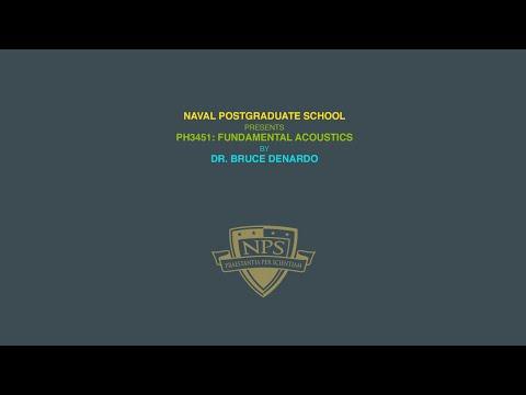 NPS Physics - Ph 3451: Acoustics - Lecture 19 - Helmholtz Resonators