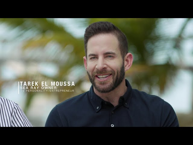 Tarek El Moussa and Heather Rae Young experience the all-new Sea Ray Sundancer 370