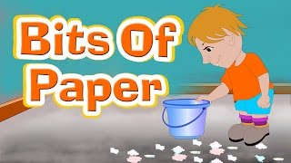 Bits Of Paper Lying On The Floor Rhyme With Lyrics I Kids Songs, English Rhymes For Children, Poem