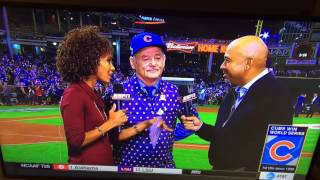 Chicago Cubs 2016 World Series Win with Bill Murray