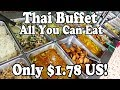 ALL YOU CAN EAT THAI FOOD BUFFET in Thailand. ONLY $1.78 US! Cheapest Buffet in Krabi Thailand.