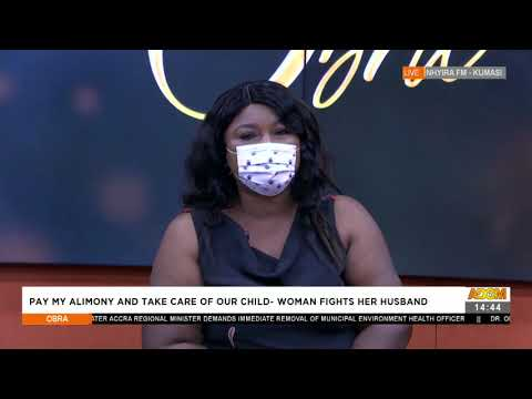 Pay My Alimony and Take Care of Our Child -Woman Fights Her Husband- Obra on Adom TV (27-7-21)