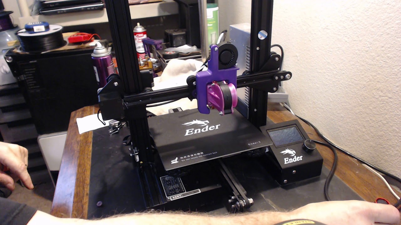 Ender 3 bed adjustment