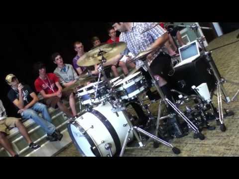 Lou Santiago Jr. 2nd Drum Solo at Camp Electric