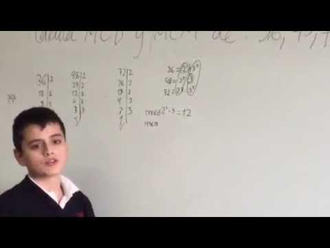 RECORDANDO: Cálculo del mcd y mcm de tres números