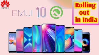 Honor and Huawei EMUI 10 & android 10 update Rolling out in india ll honor 9 lite, 10 lite, 8X, 9N..