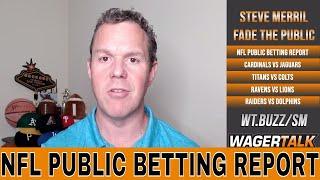 NFL Week 3 Public Betting Report | Ravens vs Lions | Titans vs Colts | NFL Week 3 Predictions