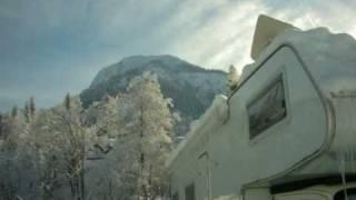 Wohnmobilstellplatz Geiger Oberstdorf im Winter