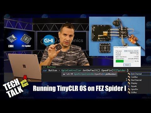 Using TinyCLR OS on a FEZ Spider - Tech Talk 049