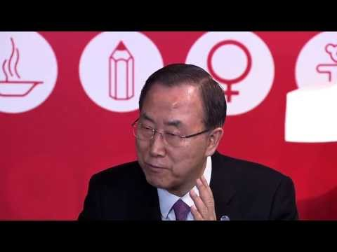 Ban Ki-moon, One Thousand days to the MDGs - Meeting young people in Madrid (Spain)