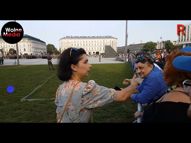 Emerytka krzyczy DUPA,... na KONSTYTUCJE. Dominika Arendt-Wittchen (PIS) bije za KONSTYTUCJ? -