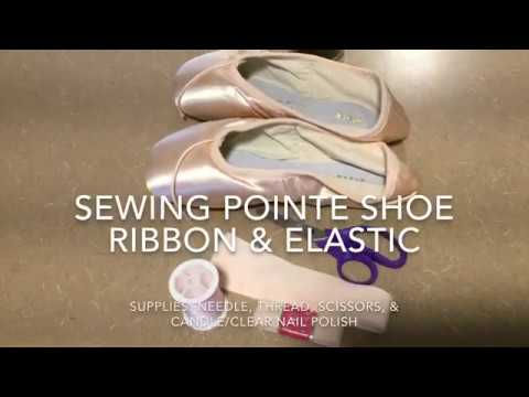 NEDC Pointe Shoe Ribbon & Elastic Sewing Tutorial