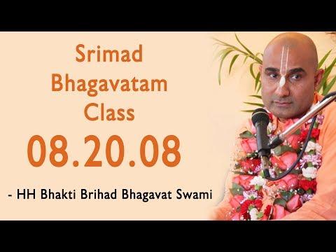 Srimad Bhagavatam Class 08 20.08 by Bhakti Brihad Bhagavat Swami at ISKCON Juhu On 15th Apr 2018