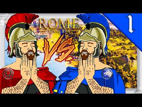 SCIPII VS. JULII MULTIPLAYER CAMPAIGN! Total War Rome II: Scipii & Julii Multiplayer Campaign #1