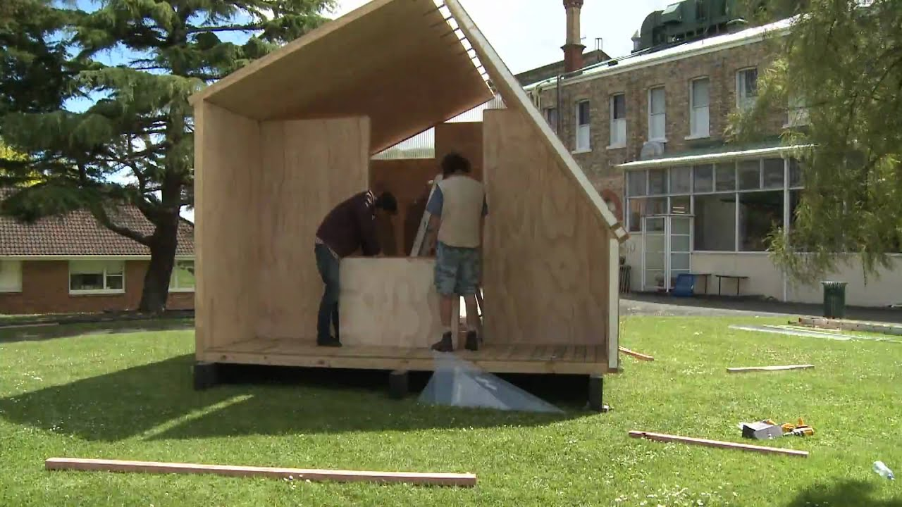 Folding Whare Portable Disaster Relief Shelter Youtube
