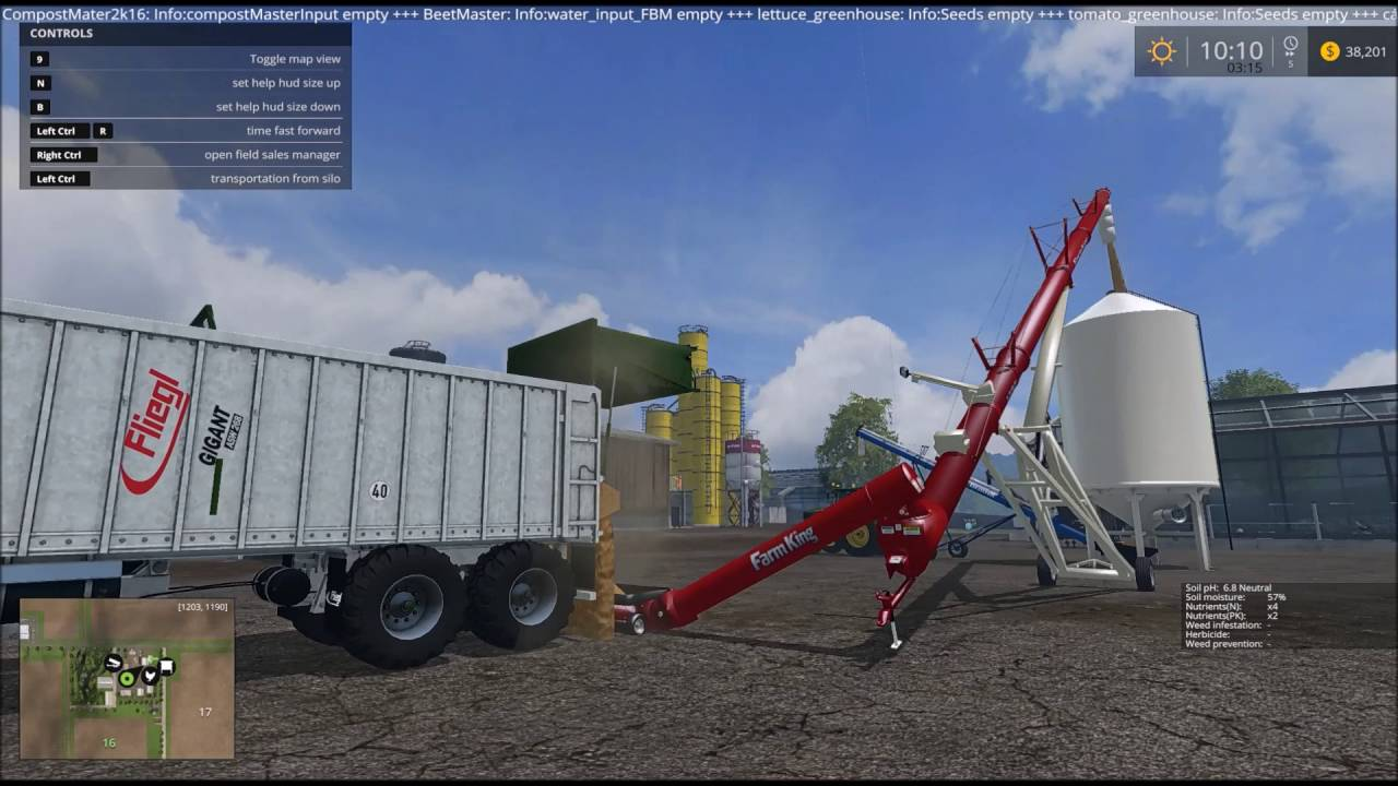 Working with grain augers and silos