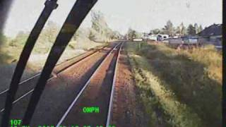 Train Crashes into Construction Crew's Equipment