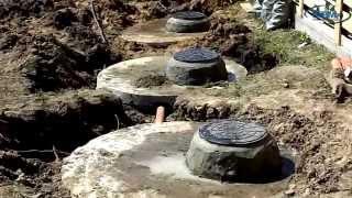 Канализация из бетонных колец под ключ(Септик из бетонных колец, монтаж автономной канализации, канализация из бетонных колец под ключ, автономна..., 2014-04-25T18:28:57.000Z)