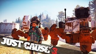 BATTLE MECHS IN JUST CAUSE 3! :: Just Cause 3 Mech Land Assault DLC!