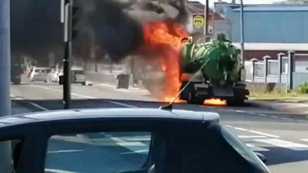 Arde un camión en Vilagarcía